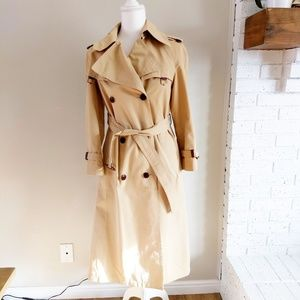 Vintage 70s Etienne Aigner Trench Coat, Size 6